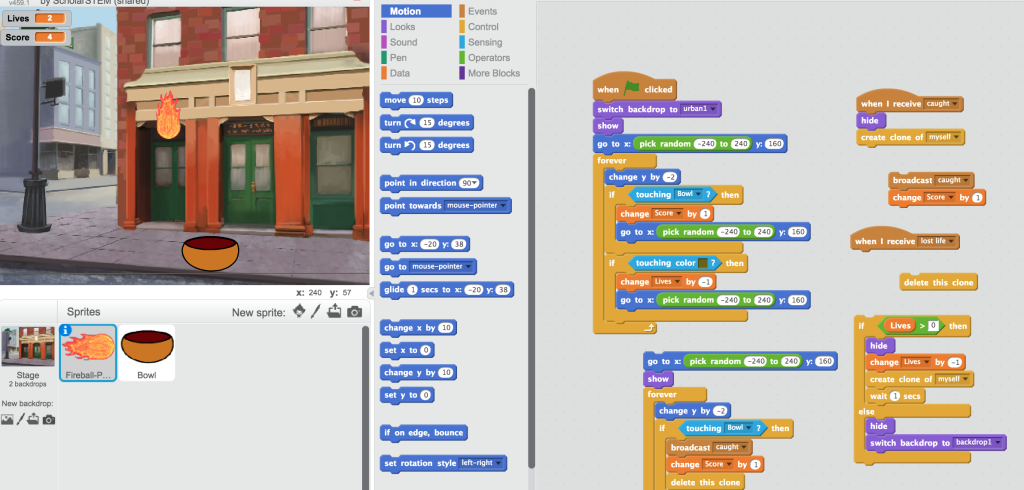 Intro Coding and Game Design with Scratch | ScholarStem